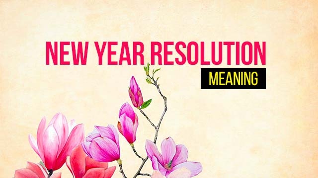 Happy New Year Resolution Meaning in Hindi